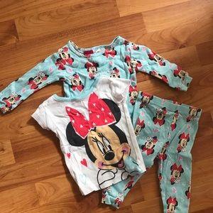 Disney pajamas. 3 pieces